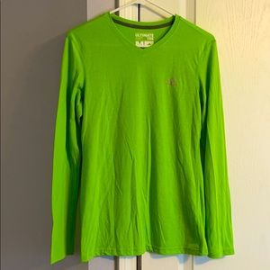 Bright Lime Green L/S Adidas Tee